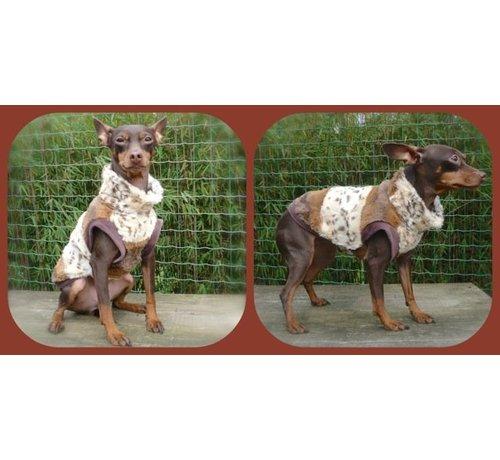 Doxtasy Dog Coat Super Soft ArtFurry Leopard / Beige