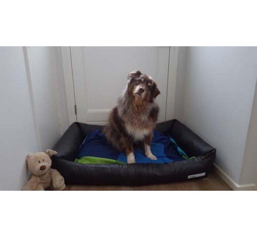 Dog Bed Leatherette Black