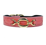 Hartman and Rose Dog Collar Hartman plated fittings Petal Pink