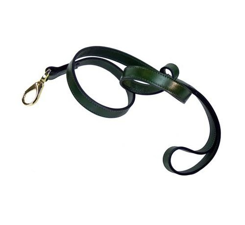 Hartman and Rose Dog Leash Hartman plated fittings Ivy Green