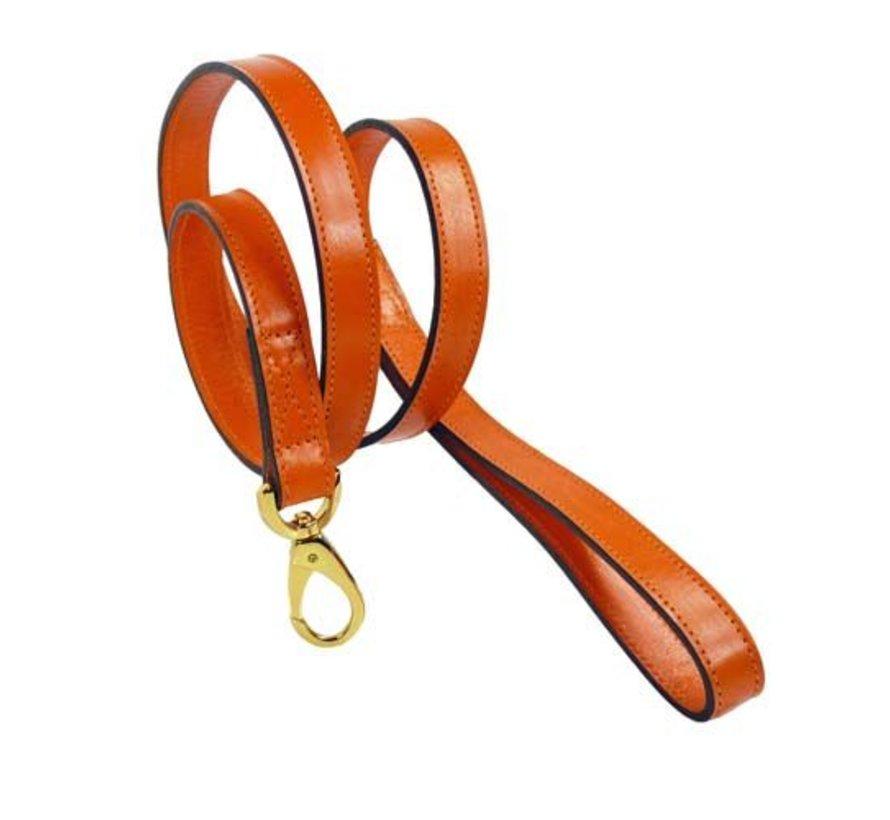 Dog Leash Hartman plated fittings Tangerine