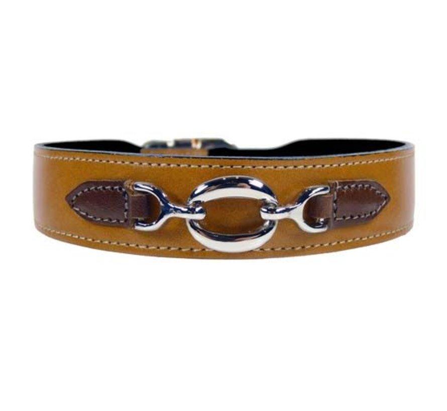 Dog Collar Hartman nickel fittings Tan