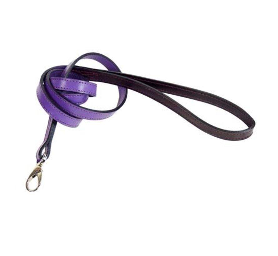 Dog Leash Hartman nickel fittings Grape