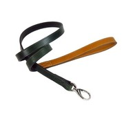 Hartman and Rose Dog Leash Hartman nickel fittings Ivy Green