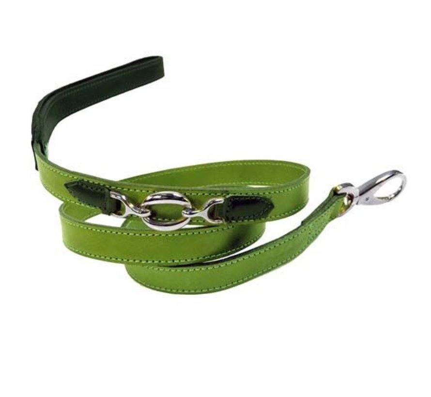 Dog Leash Hartman nickel fittings Lime Green