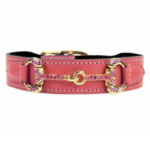 Hartman and Rose Dog Collar Horse & Hound Petal Pink