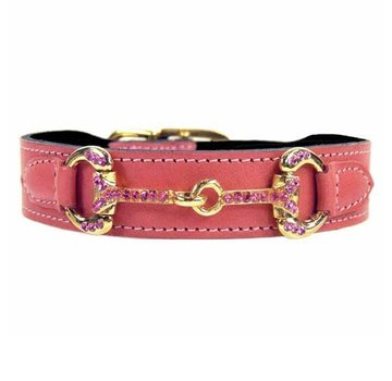 Hartman and Rose Dog Collar Horse & Hound Petal Pink