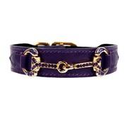 Hartman and Rose Dog Collar Horse & Hound Royal Purple