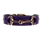 Hartman and Rose Hondenhalsband Horse & Hound Royal Purple