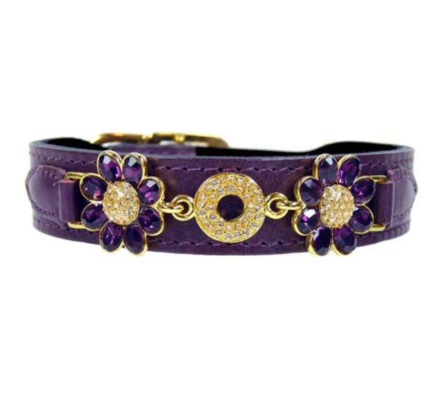 Dog Collar Daisy Papal Purple