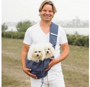 4LazyLegs Dog Canvas Bag Blue Gray