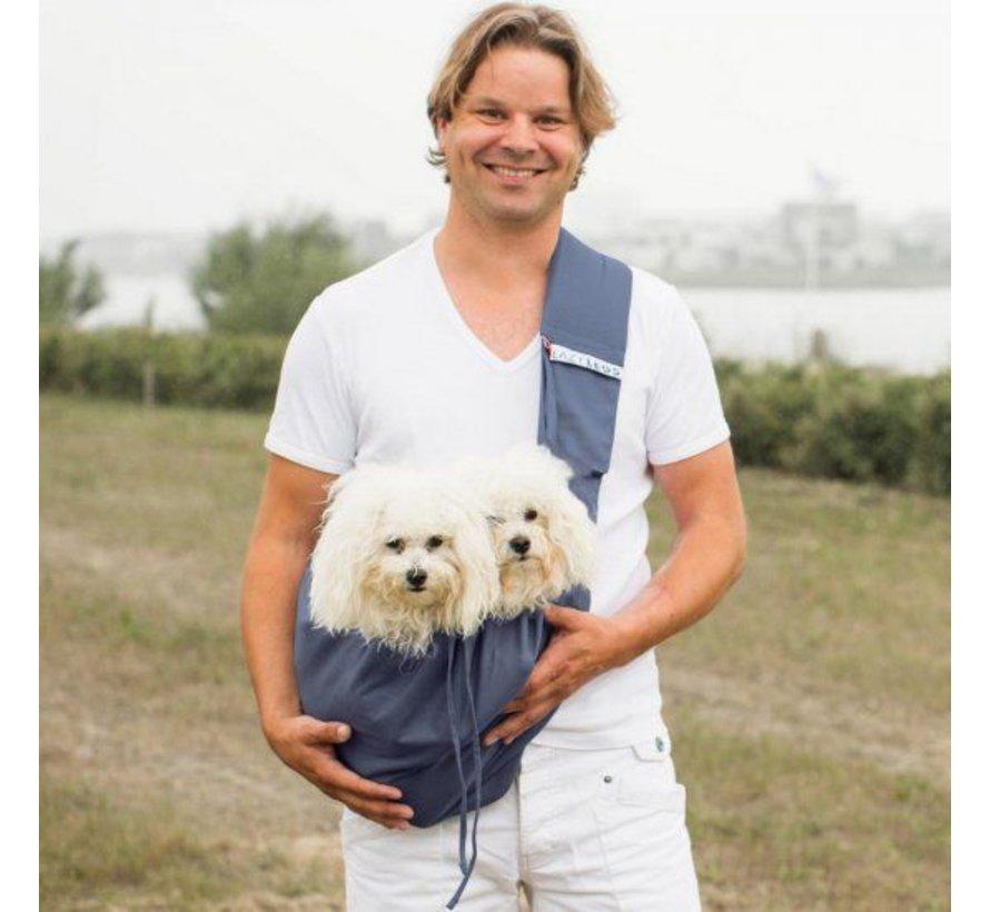 Dog Canvas Bag Blue Gray