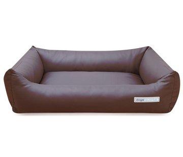 Dogsfavorite Dog Bed Leatherette Brown