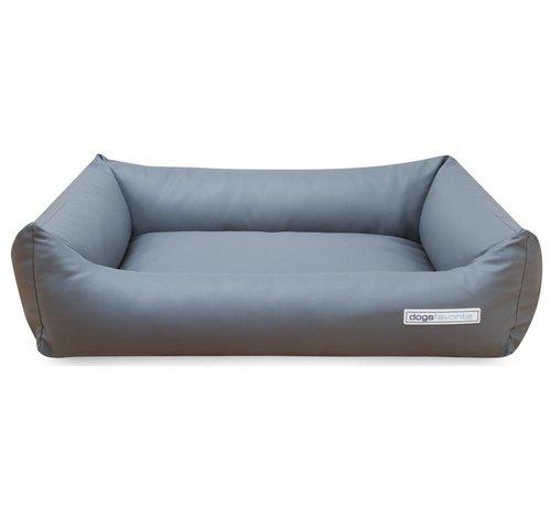 Dogsfavorite Dog Bed Leatherette Light Grey