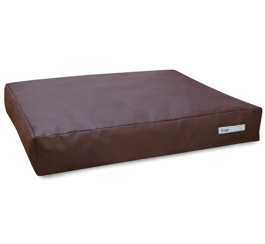 Dog Cushion Big Pad Leatherette Brown