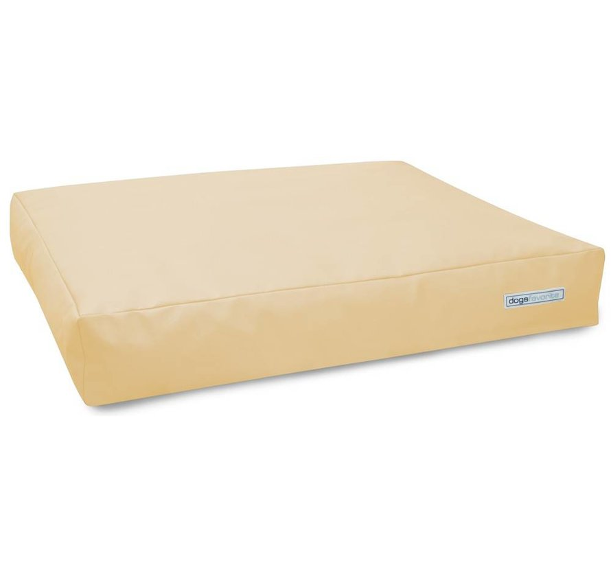 Dog Cushion Big Pad Leatherette Cream