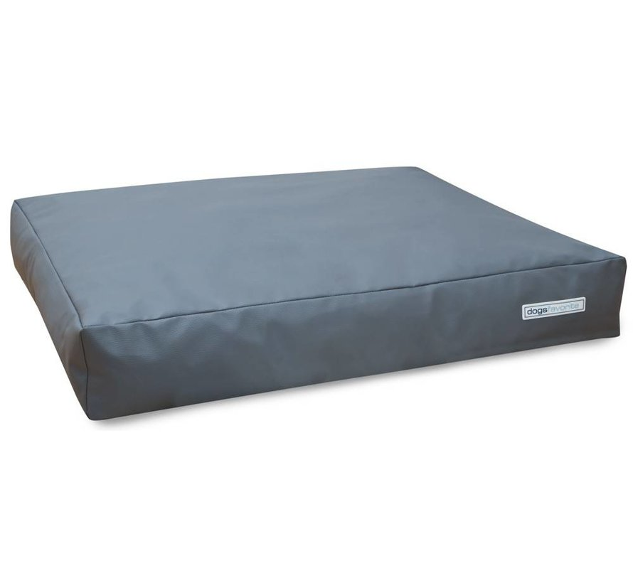 Dog Cushion Big Pad Leatherette grey