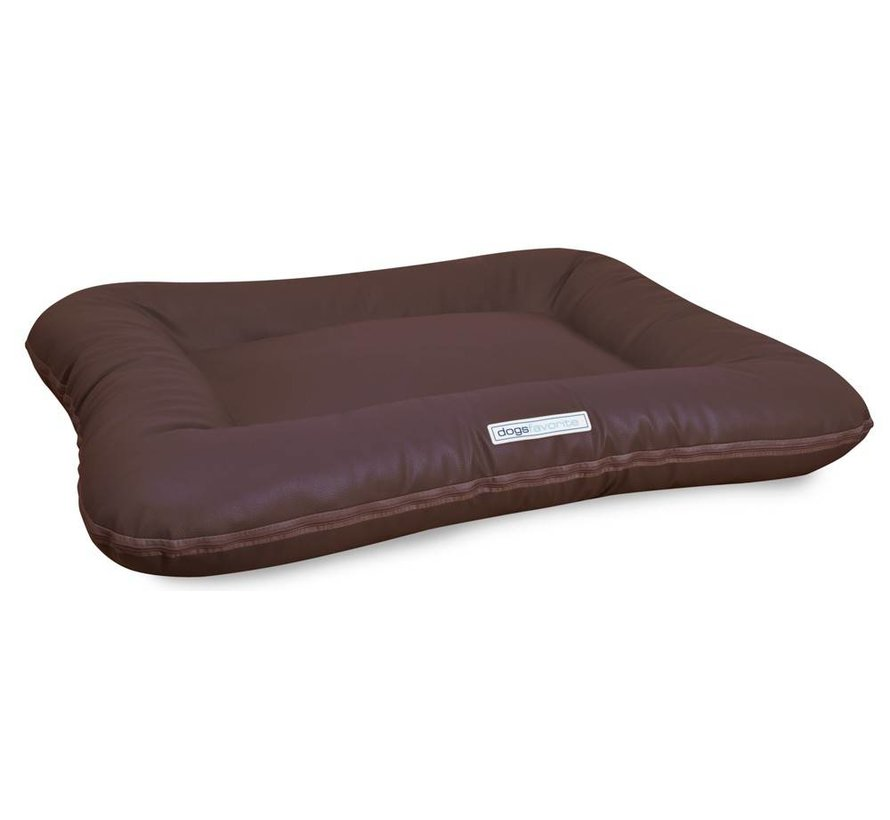 Dog Bed Classic Leatherette Brown