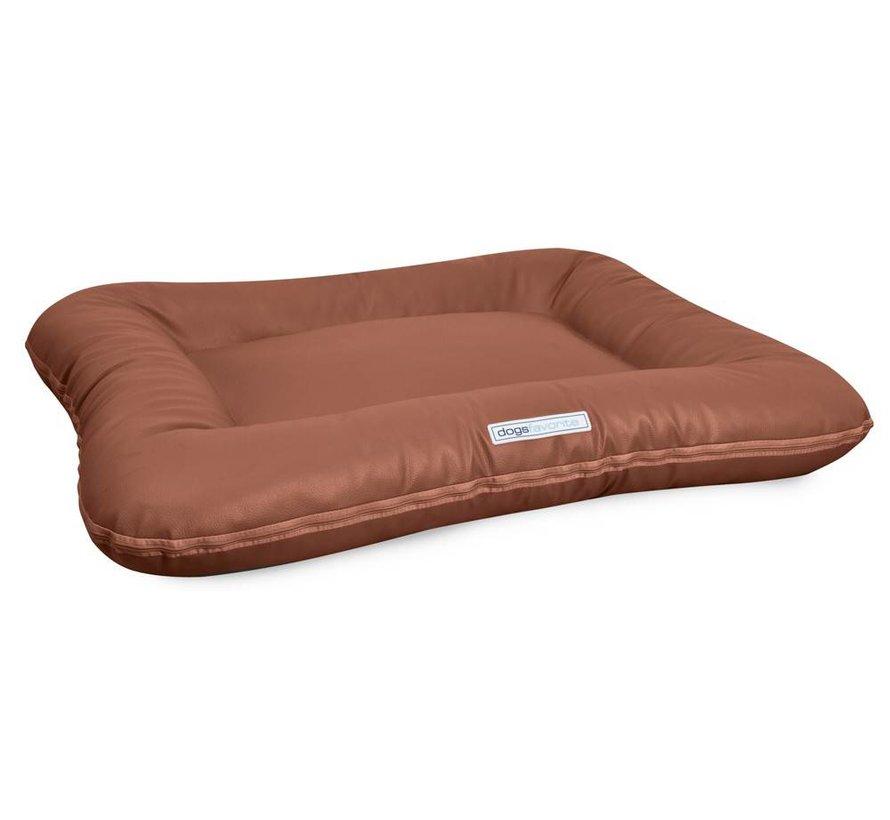 Dog Bed Classic Leatherette Cognac