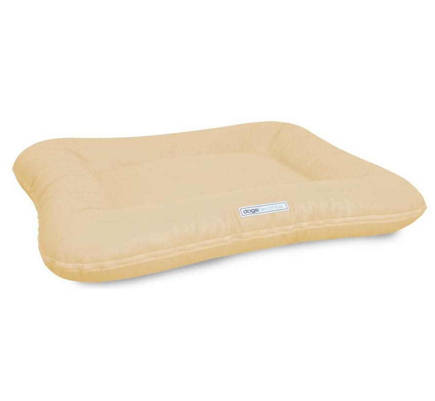Dog Bed Classic Leatherette Cream