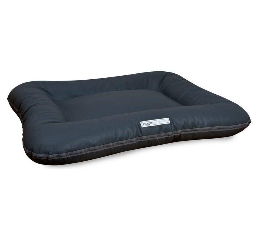 Dog Bed Classic Leatherette Dark Grey