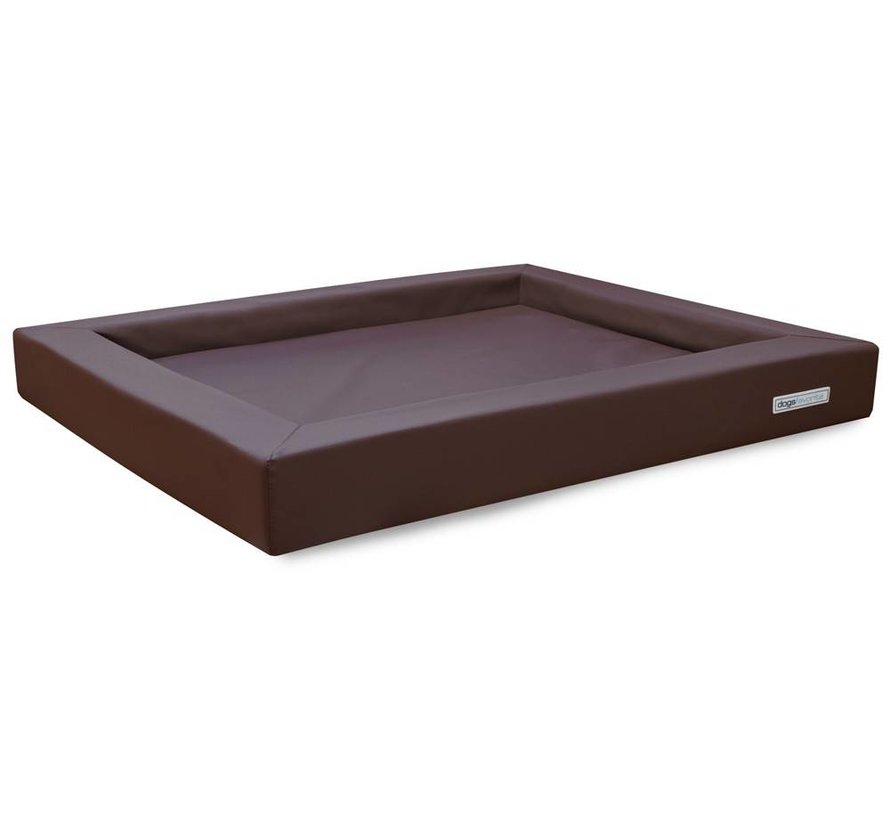 Dog Bed Relax Leatherette Brown