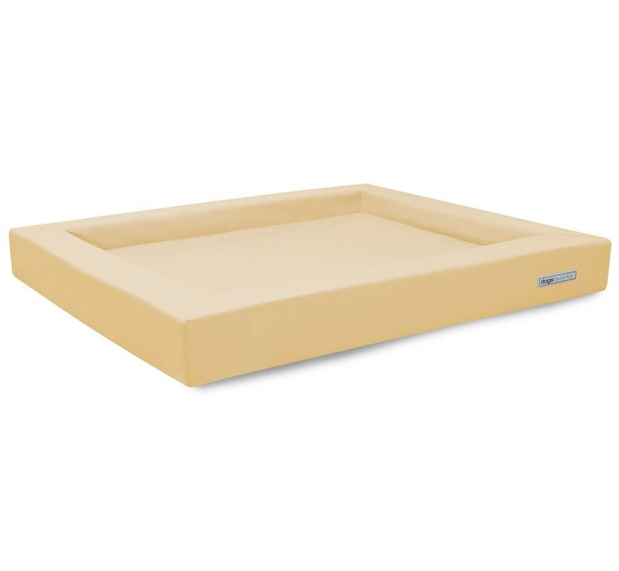 Dog Bed Relax Leatherette Cream