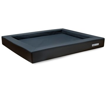 Dogsfavorite Dog Bed Relax Leatherette Dark grey