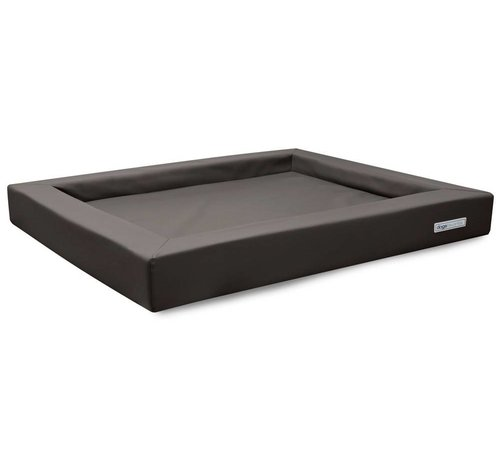 Dogsfavorite Dog Bed Relax Leatherette Taupe