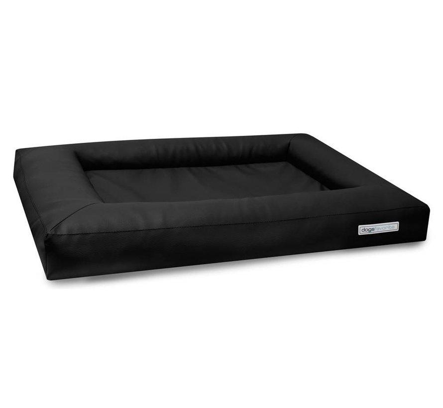 Dog Bed Cube Leatherette Black