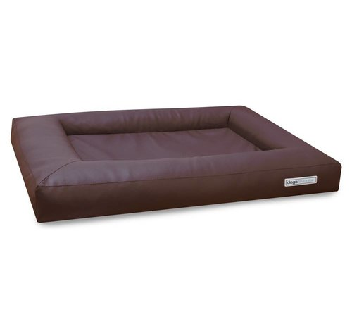 Dogsfavorite Dog Bed Cube Leatherette Brown