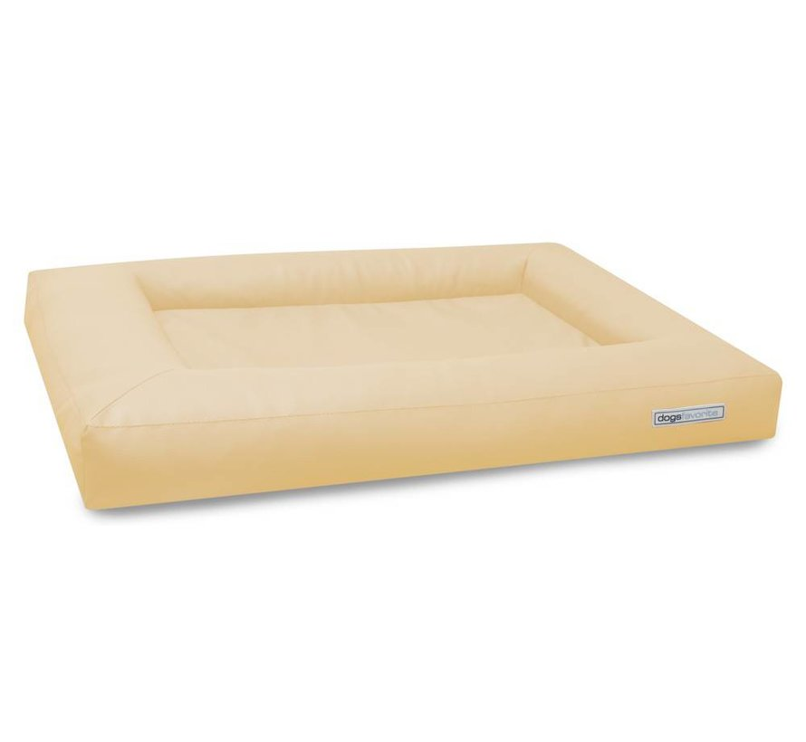 Dog Bed Cube Leatherette Cream