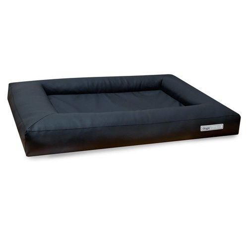 Dogsfavorite Dog Bed Cube Leatherette Dark Grey