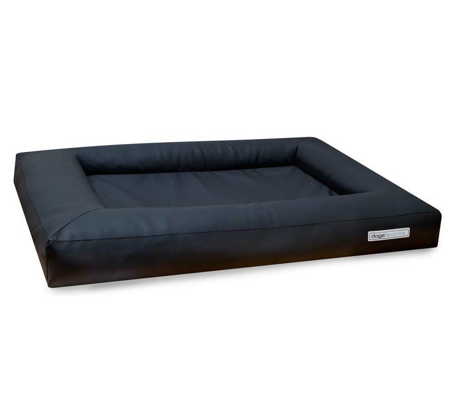 Dog Bed Cube Leatherette Dark Grey