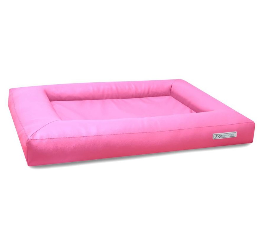 Dog Bed Cube Leatherette Pink