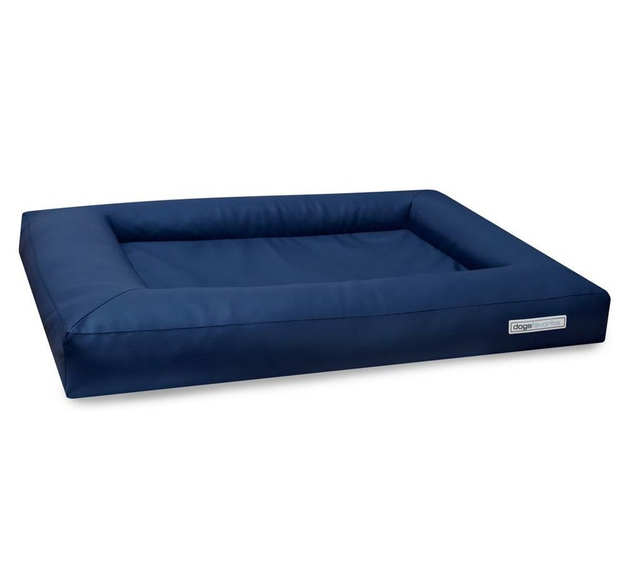 Dog Bed Cube Leatherette Navy