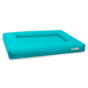 Dogsfavorite Dog Bed Cube Leatherette Turquoise