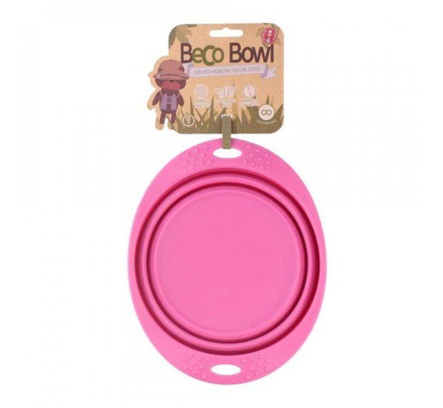 Drinkbak of voerbak Travel Bowl Roze