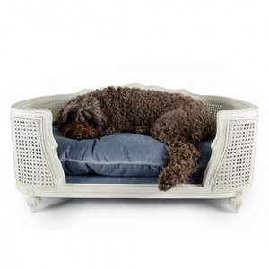 Lord Lou Dog Bed Arthur Silver Grey Velvet