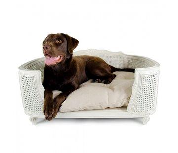 Lord Lou Dog Bed Arthur Linen Ecru