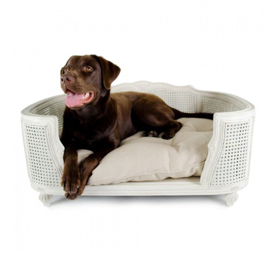 Dog Bed Arthur Linen Ecru