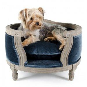 Lord Lou Dog Bed George Royal Blue Velvet