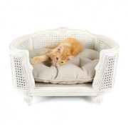 Lord Lou Cat Bed Arthur Linen Ecru