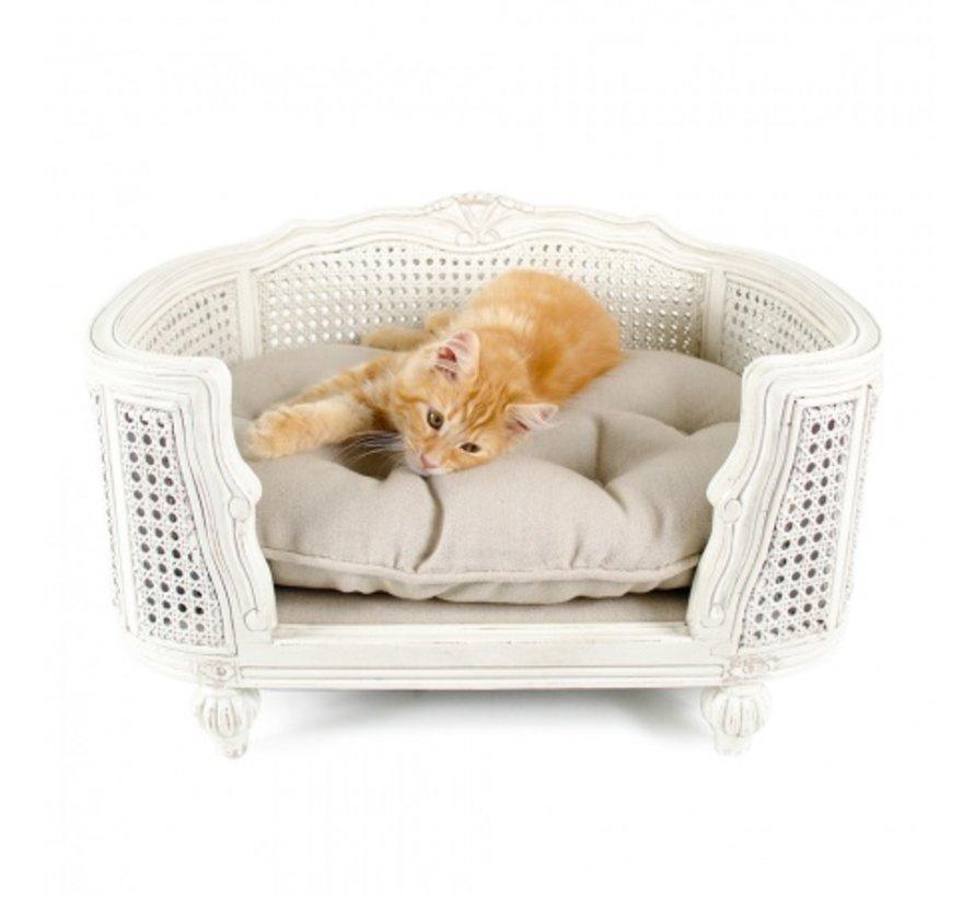 Cat Bed Arthur Linen Ecru