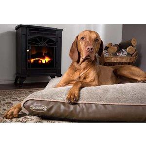 Scruffs Dog Bed Chateau Memory Foam Plush Latte