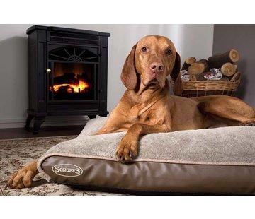Scruffs Orthopedic Dog Bed Chateau Memory Foam Plush Latte