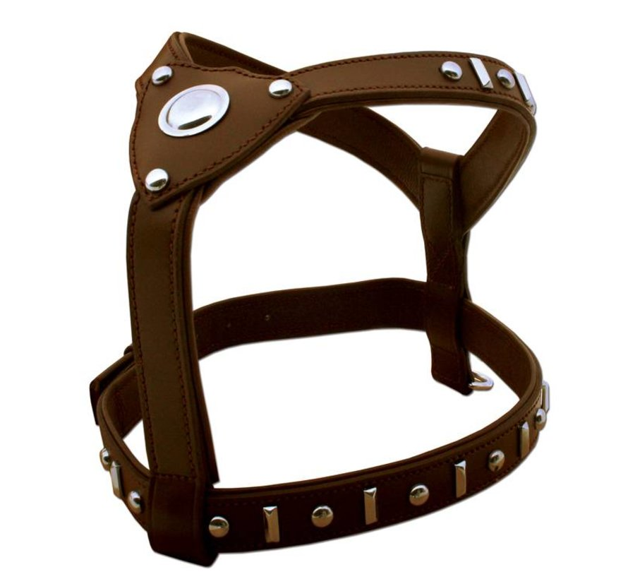 Dog Harness Knight Brown & Silver