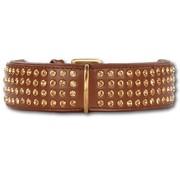 Doxtasy Dog Collar Swarovski Extreme Brown 45mm