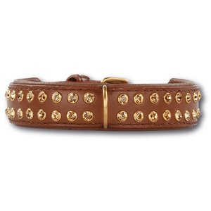 Doxtasy Dog Collar Swarovski Extreme Brown 30mm