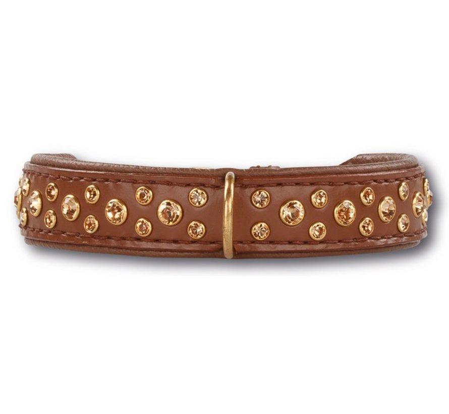 Dog Collar Swarovski Extreme Brown 20mm